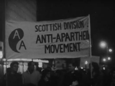 Apartheid protest Scotland