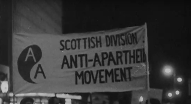 Apartheid protest Scotland